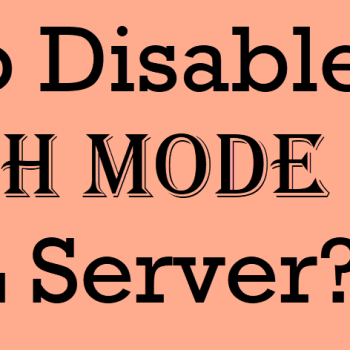 disable batch mode