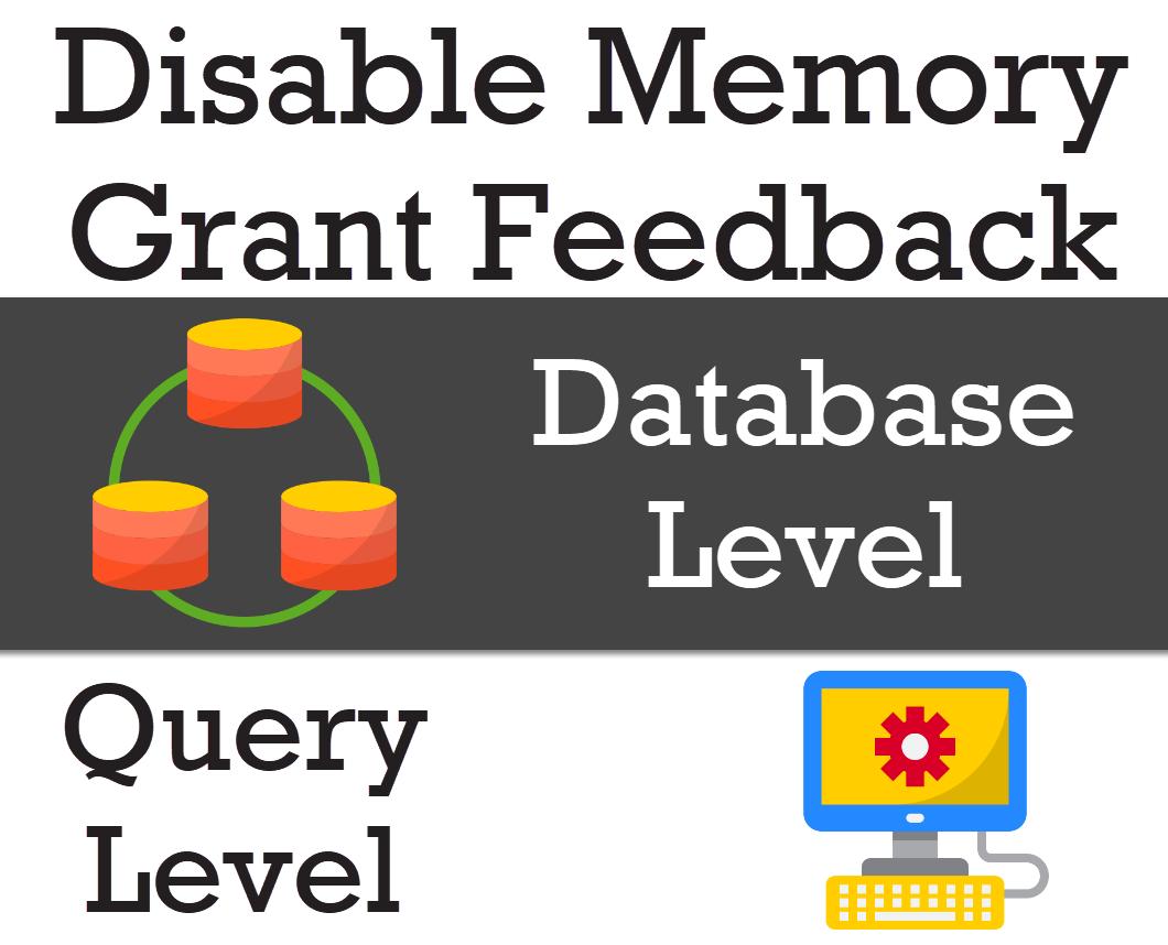 disable query feedback