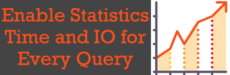 SQL SERVER Management Studio - Enable Statistics Time and IO for Every Query statistics-time-800x262