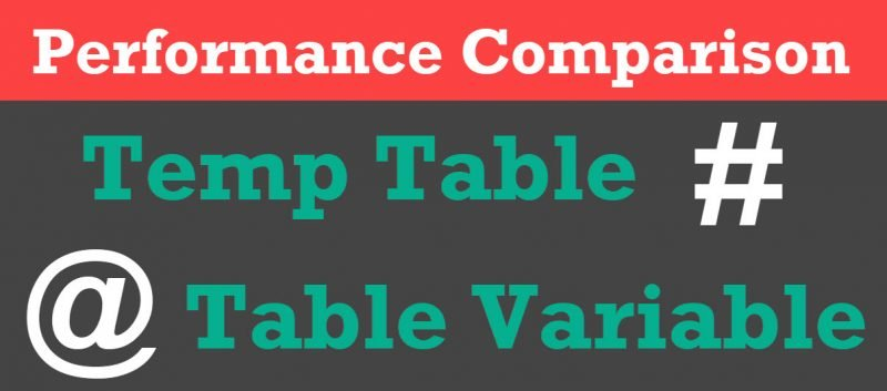 SQL SERVER - Temp Table vs Table Variable - Cardinality Estimation CarnalityEstimation-800x353