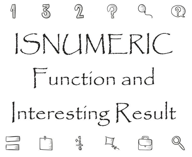 SQL SERVER - ISNUMERIC Function and Interesting Result isnumericfunction-800x657