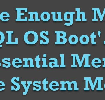 SQL OS Boot