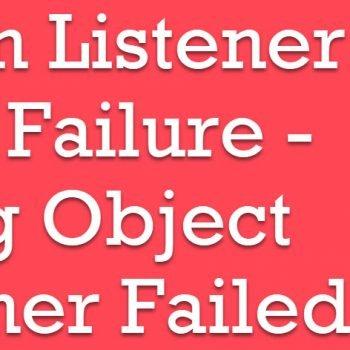 listener creation