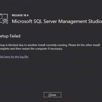 ssms install error