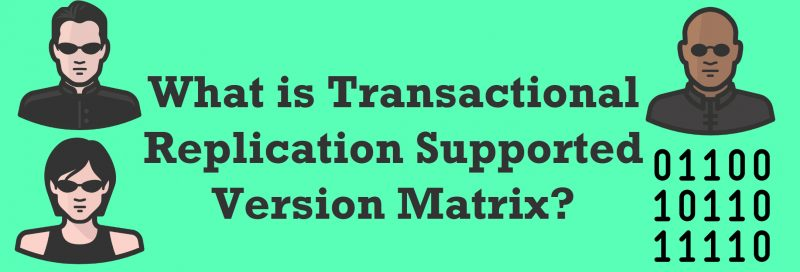 What is Transactional Replication Supported Version Matrix? - Interview Question of the Week #274 Supported-Version-800x272
