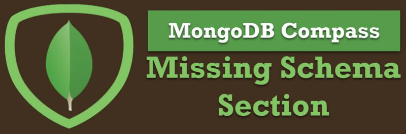 MongoDB Compass - Missing a Schema Section mongodbcompass-800x265