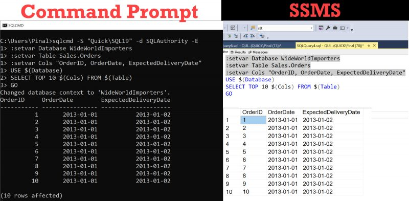 SQL SERVER Management Studio and SQLCMD Mode sqlcmdmode0-800x393