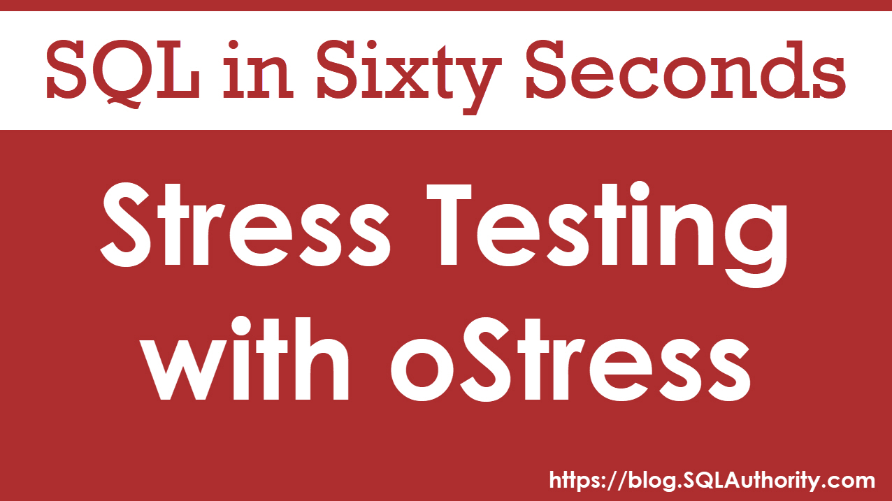 Testing with oStress