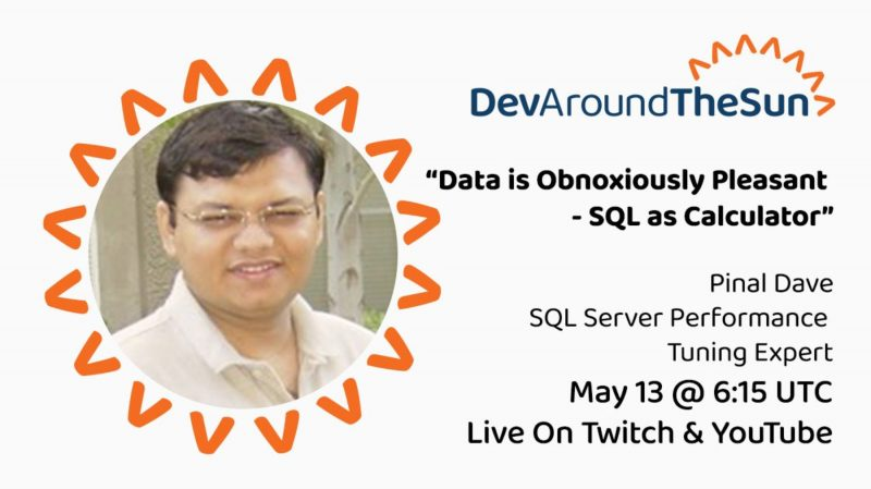 SQL SERVER - Resources for DevAroundTheSun Session devaroundthesun1-800x449