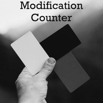 Statistics Modification Counter