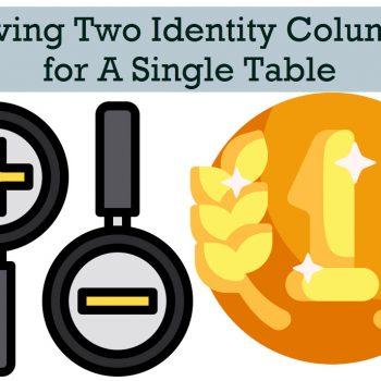 two identity columns