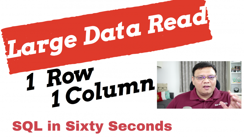 Single Column Single Row and TABLE SCAN - SQL in Sixty Seconds #111 111-SingleRowSingleColCover-Alternative-800x450