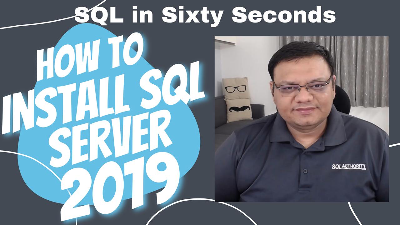 SQL SERVER 2019 Install