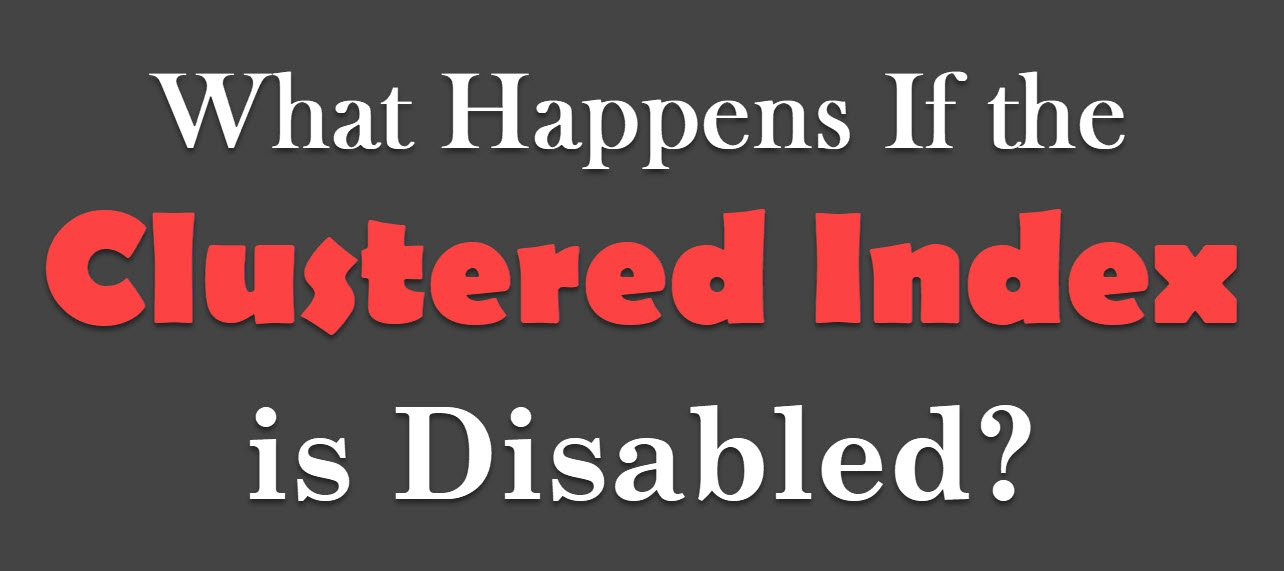 Index is Disabled