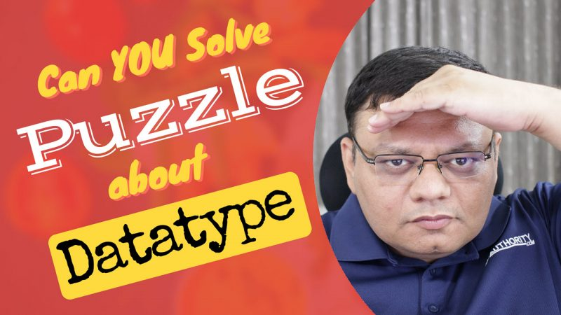 Solve Puzzle about Data type - SQL in Sixty Seconds #108 yt2-800x450