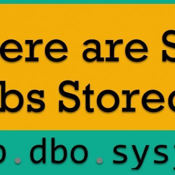 Jobs Stored