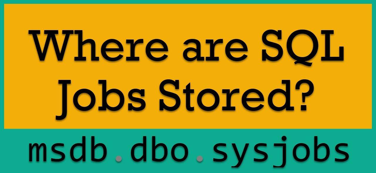 Jobs Stored