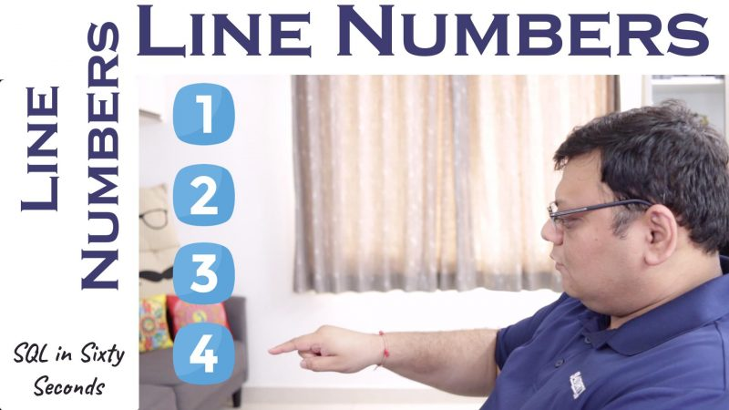 Line Numbers for SSMS Efficiency - SQL in Sixty Seconds #147 147-LineNumber-yt-800x450