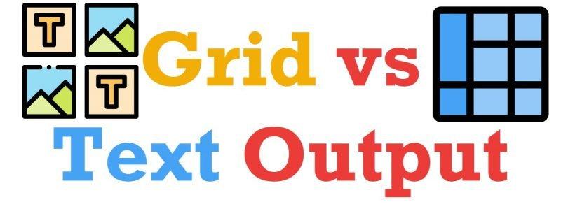 SQL SERVER Management Studio - Grid vs Text Output TextOutput-800x299