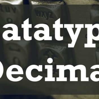 datatype decimal