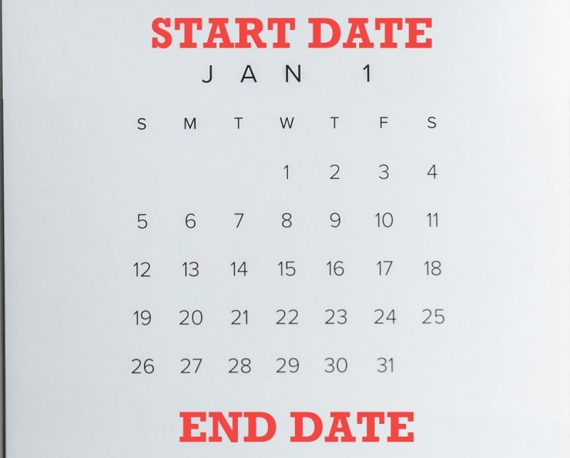 SQL SERVER - List All Dates Between Start and End Date listalldates-800x643