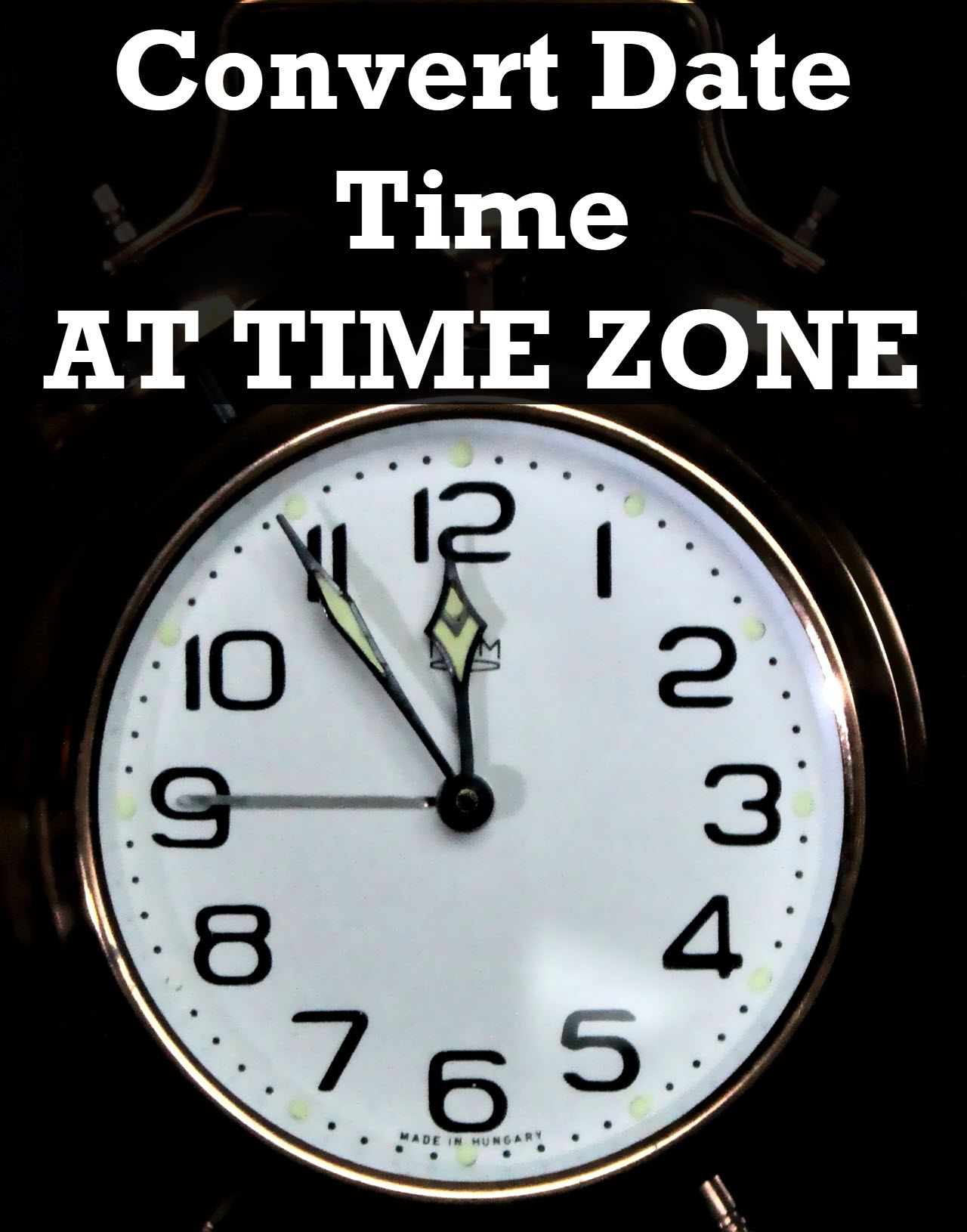 SQL SERVER – Convert Date Time AT TIME ZONE