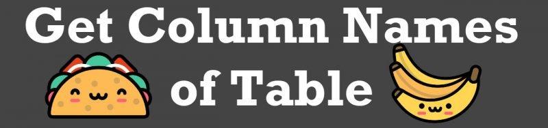 SQL SERVER - Get Column Names getcolnames-800x188