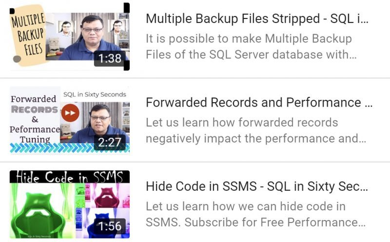 Forwarded Records, Multiple Backup and SSMS - SQL in Sixty Seconds - Feb 2021 multiplebackup-800x497