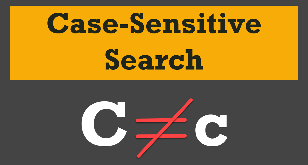 case-sensitive