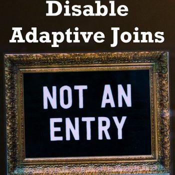 disable adaptive