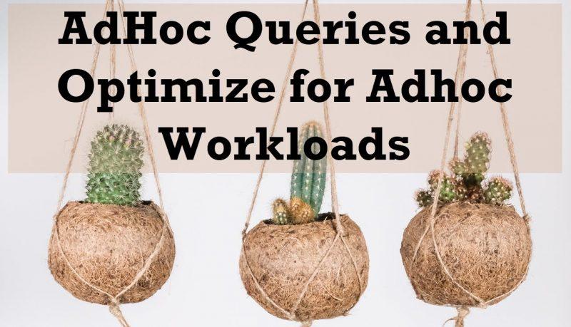 SQL SERVER - AdHoc Queries and Optimize for Adhoc Workloads adhocqueries-800x459