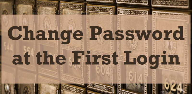 SQL SERVER - Change Password at the First Login changepassword-800x394