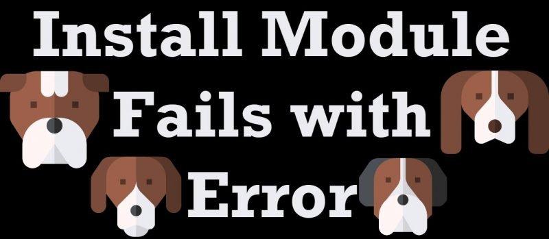 SQL Azure - Install Module Fails with Error installmodule-800x349
