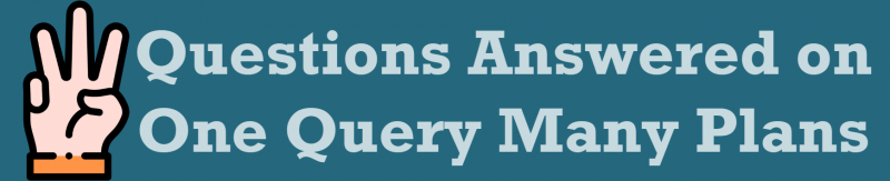 SQL SERVER - 3 Questions Answered on One Query Many Plans OneQuery-3connection-800x163
