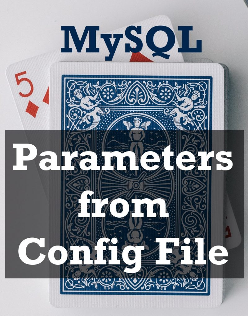 MySQL Performance - 5 Parameters from Config File ConfigFile-800x1018