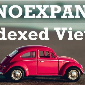 Indexed Views