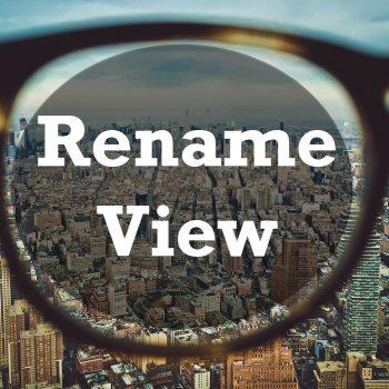 rename view