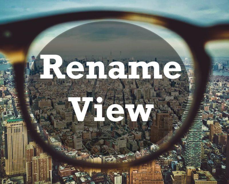 SQL SERVER - Rename View renameview-800x643