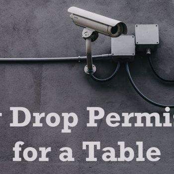 Drop Permission