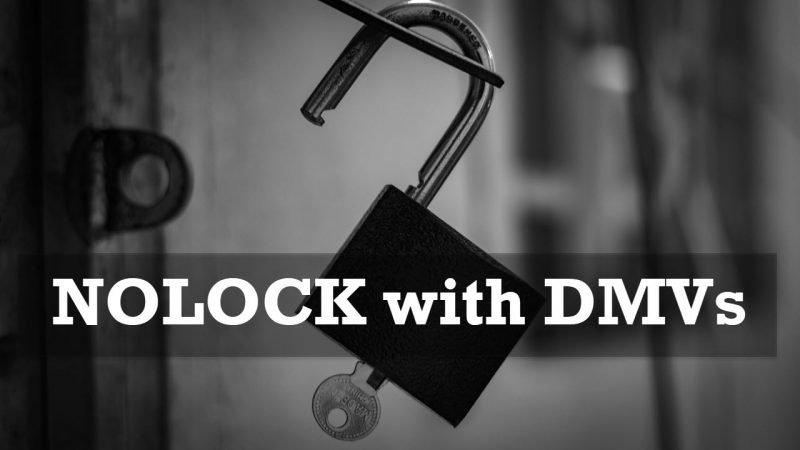 SQL SERVER - NOLOCK with DMVs NOLOCKwithDMVs-800x450