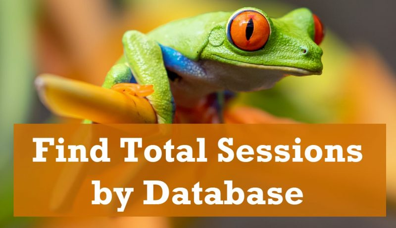 SQL SERVER - Find Total Sessions by Database TotalSessions-800x462