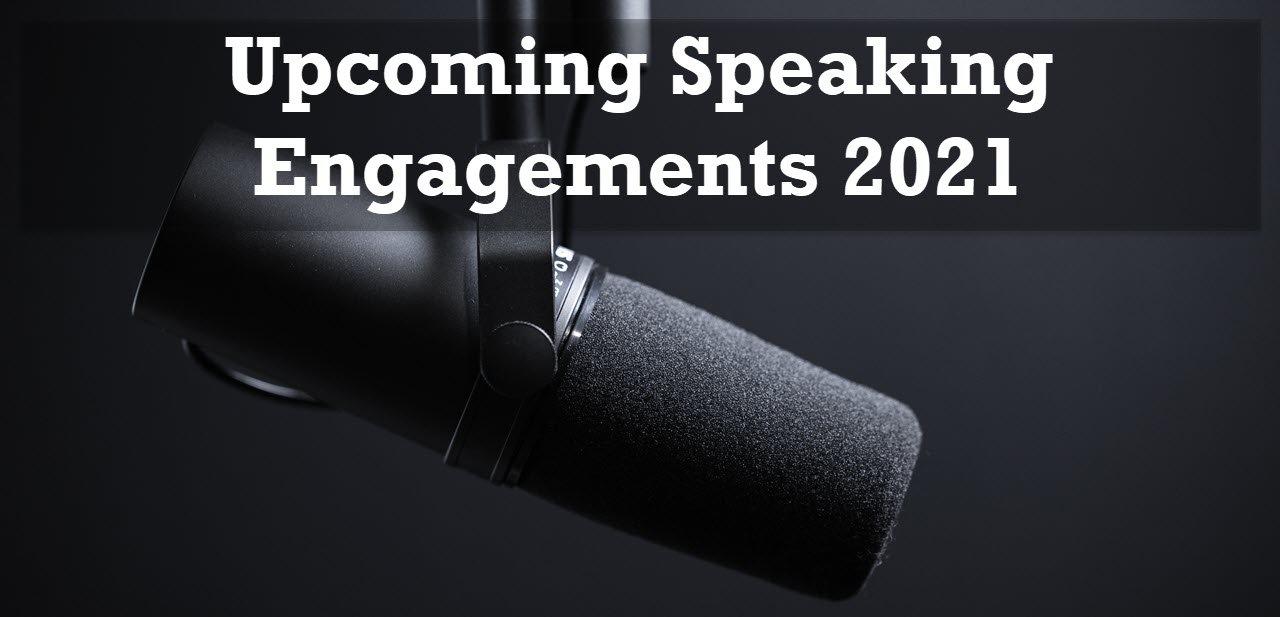 Upcoming Speaking
