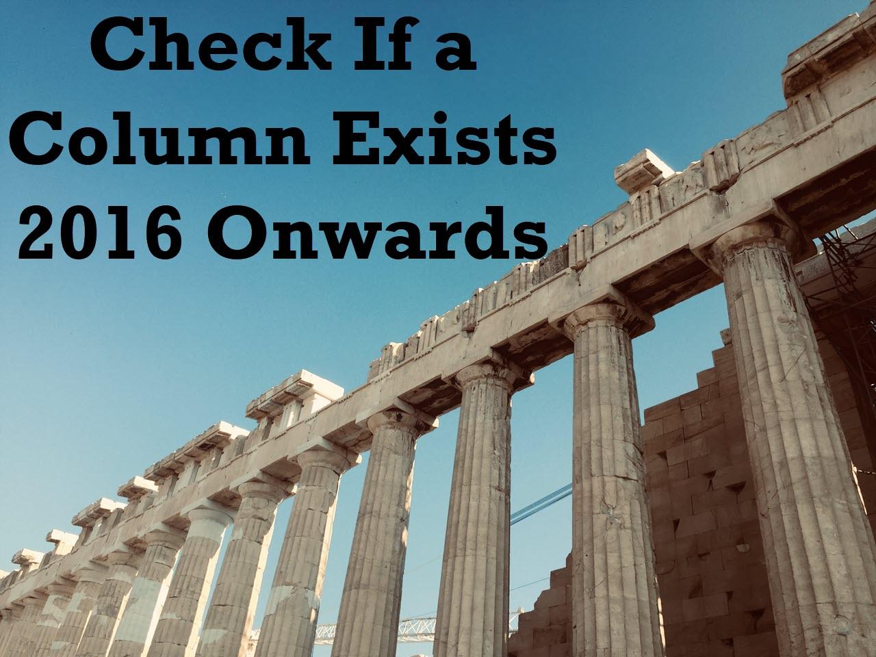 column exists